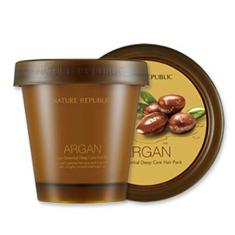 Nature Republic Argan Essential Deep Care Hair Pack 200ml Hair Care Mask Scalp Repair Dry Damage Hair Treatment Korean Cosmetics shiseido damage care treatment