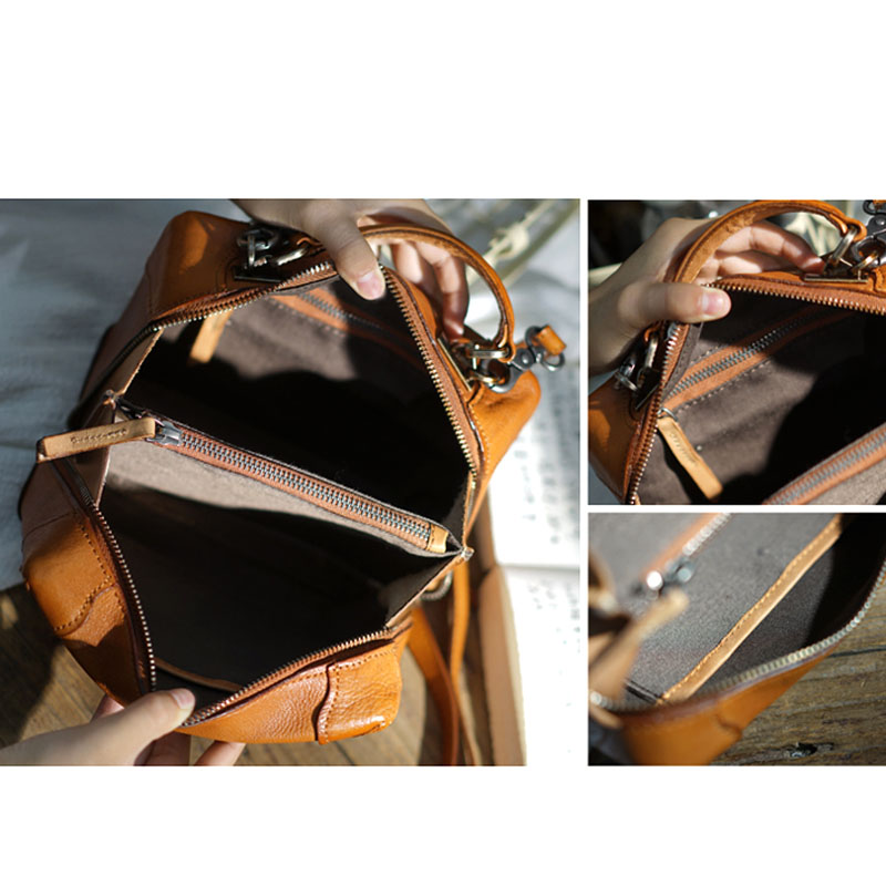 AETOO อังกฤษ retro handmade cowhide หนังไหล่แบบทแยงมุมแบบพกพากระเป๋าขนาดกะทัดรัดกล่องกระเป๋าสุภาพสตรีและผู้หญิงรุ่น-ใน กระเป๋าสะพายไหล่ จาก สัมภาระและกระเป๋า บน   2