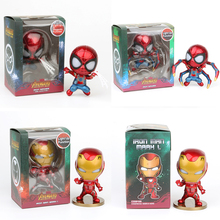 3 Style Superhero Spiderman Iron Man Action Figure 2019 Hot Movie The Infinity War Collection Toys Doll for Kids Christmas Gift jhacg 18cm spiderman venom the villain action figure toys doll christmas gift no box