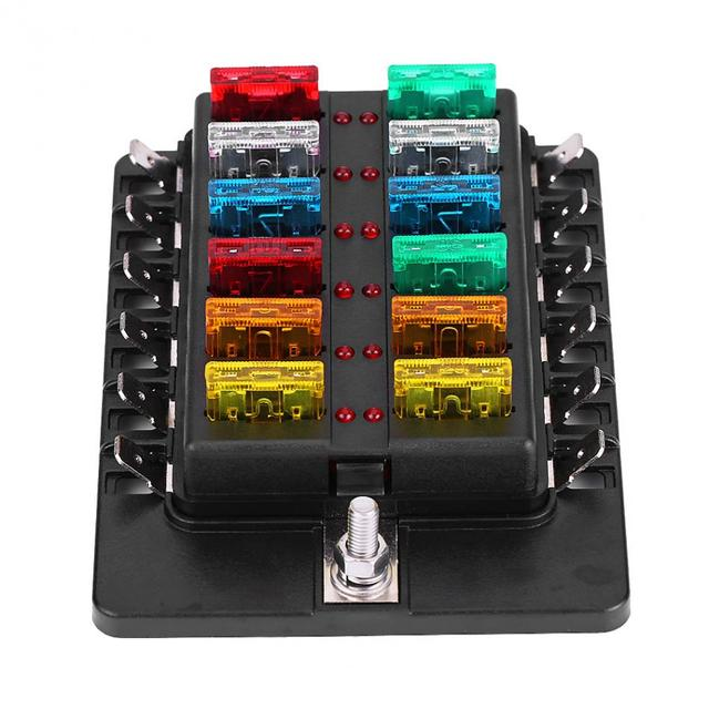 12 way circuit blade fuse box standard ato atc block holder kit with rh aliexpress com fuse box parts fuse box kia forte 2012