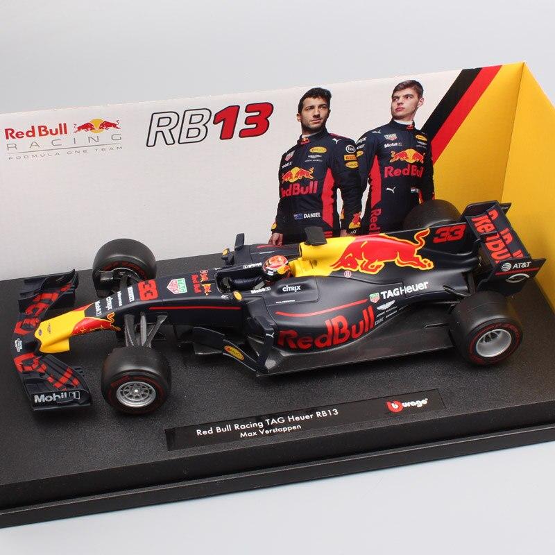 1:18 Echelle grand F1 formule un coureur No 33 Max Verstappen 2017 Red Bull Racing rb13 moulé sous pression modèle voiture jouet cadeau collecteur garçon