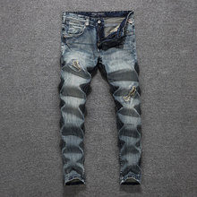 2019 Italian Designer Men Jeans High Quality Slim Fit Cotton Ripped Homme Size 29-38 Classical Men,New Pants