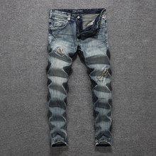 2019 Italian Designer Men Jeans High Quality Slim Fit Cotton Ripped Jeans Homme Size 29-38 Classical Jeans Men,New Men Pants