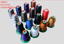 300D/3 Dia.0.3 High Strength Bonded Nylon Sewing Thread 800M/spool For Upholstery Outdoor Market Drapery Beading Luggage