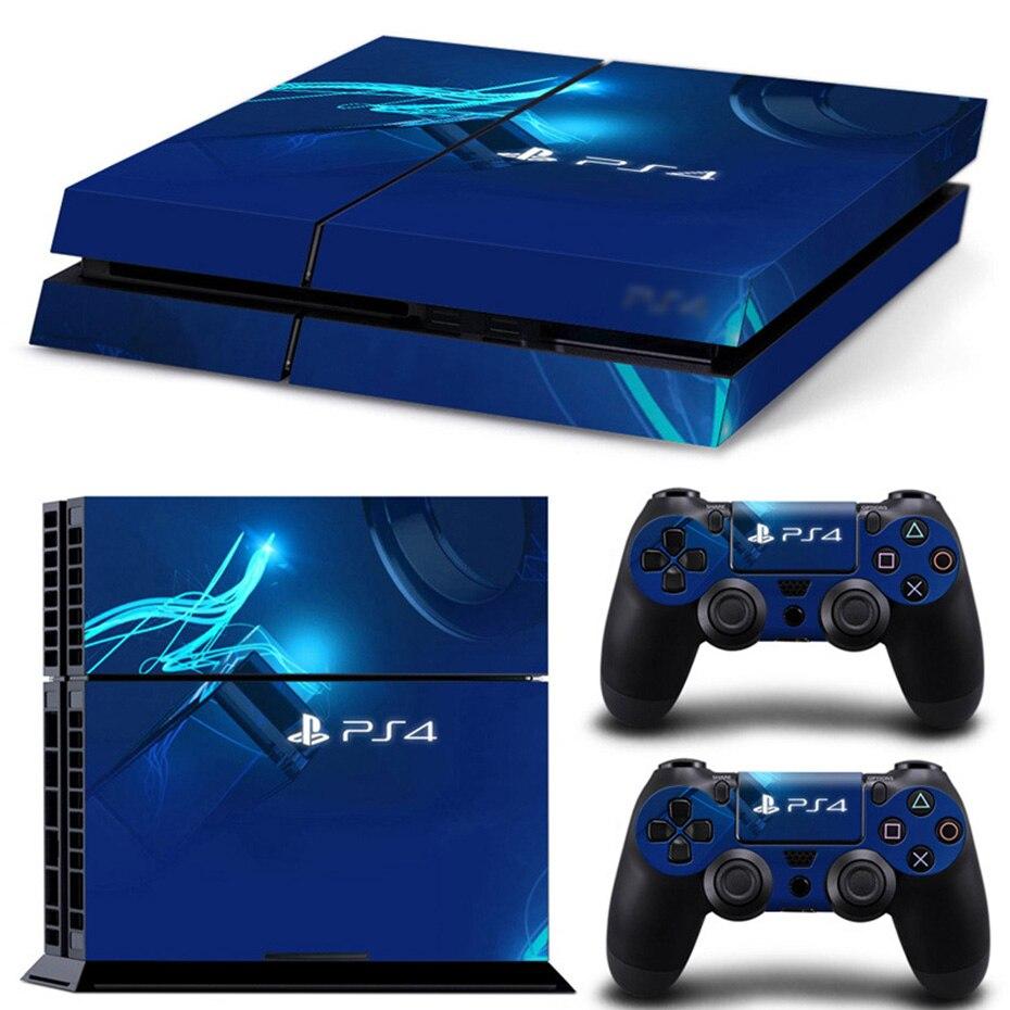 Copertura Della protezione Della Pelle per PS4 Giochi host Adesivi Decal per Playstation 4 Play Station 4 PS4 Console e Due Controller di pelli