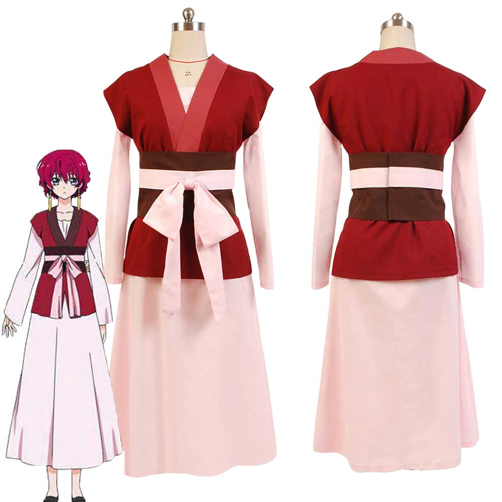 Akatsuki no Yona Princess Cosplay Yona Cosplay Costume Full Set Dress Halloween Girls' Costume dress