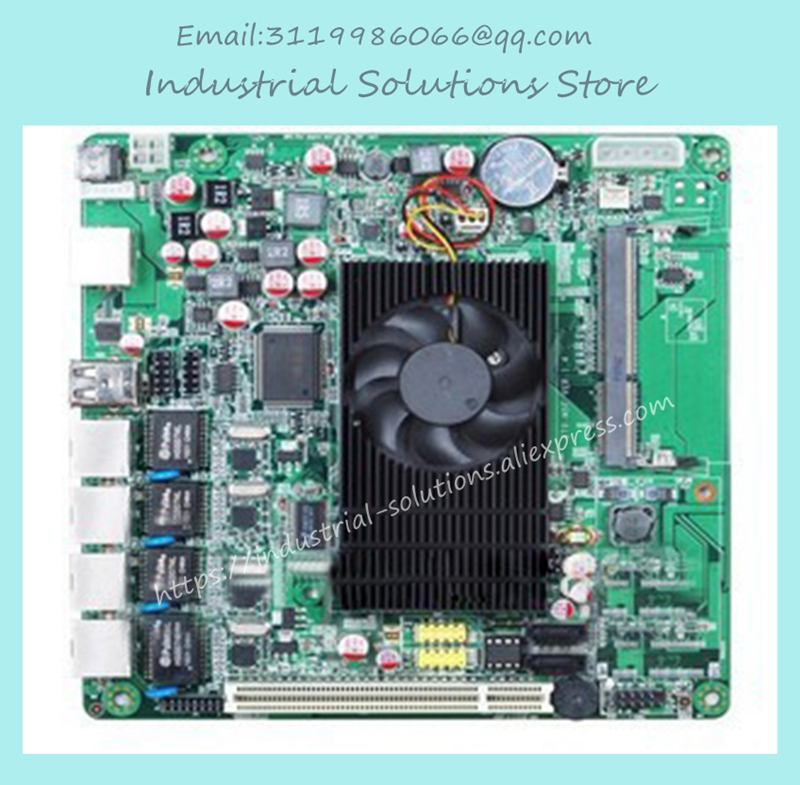 All Solid State ATOM D525 Mini-itx Industrial Motherboard Card 100% tested perfect quality m945m2 945gm 479 motherboard 4com serial board cm1 2 g mini itx industrial motherboard 100