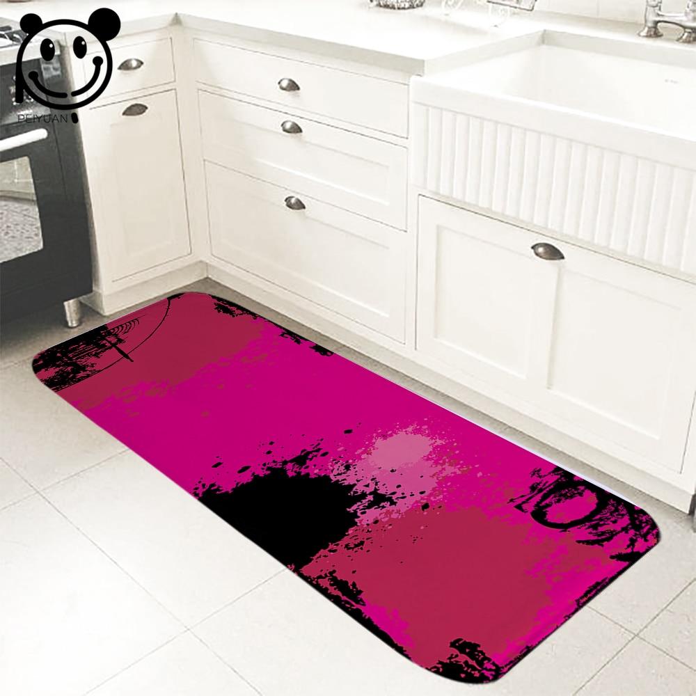 PEIYUAN coloré motifs géométriques doux flanelle paillasson tapis de sol cuisine chambre porte tapis chambre tapis Yoga tapis