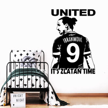 DIY Art it'zlatan time Wall Art Decal Wall Art Sticker Murals vinyl Stickers Wall Decal Home Accessories Bedroom Mural цена 2017