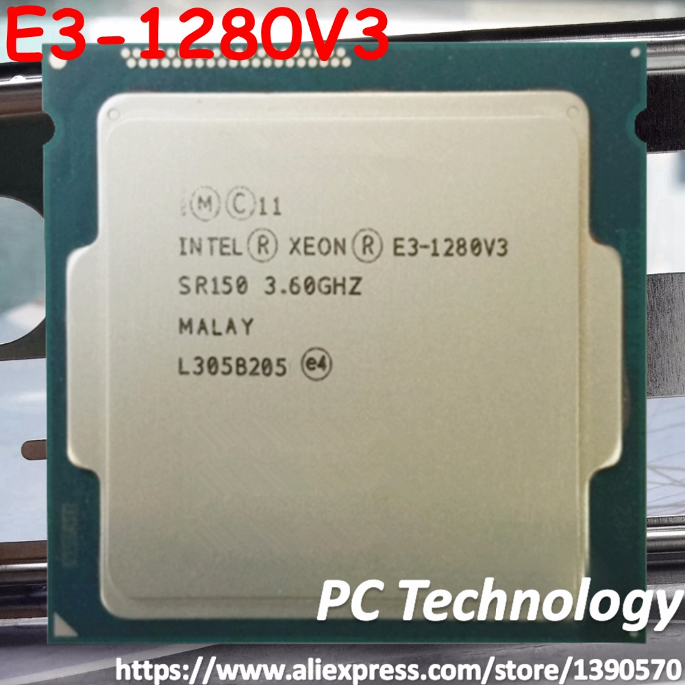 Original Intel Xeon processor E3 1280V3 CPU 3 60GHz 8M LGA1150 Quad core E3 1280 V3