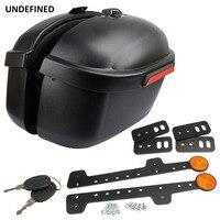 Motorcycle Luggage Trunk Side Box Edge Case Saddle Bag Case For Honda Kawasaki Yamaha DS400 650 1100 BoltXVS950 Stryker XVS Etc
