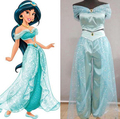 Adult Women Girl Children Anime Aladdin Princess Jasmine Cosplay Costume Clothing