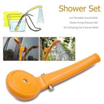 12V For Car Caravan Outdoor Camping Washing Machine Handheld Portable Washer Car Water Gun Pump Travel Pet Dog Take Shower Set
