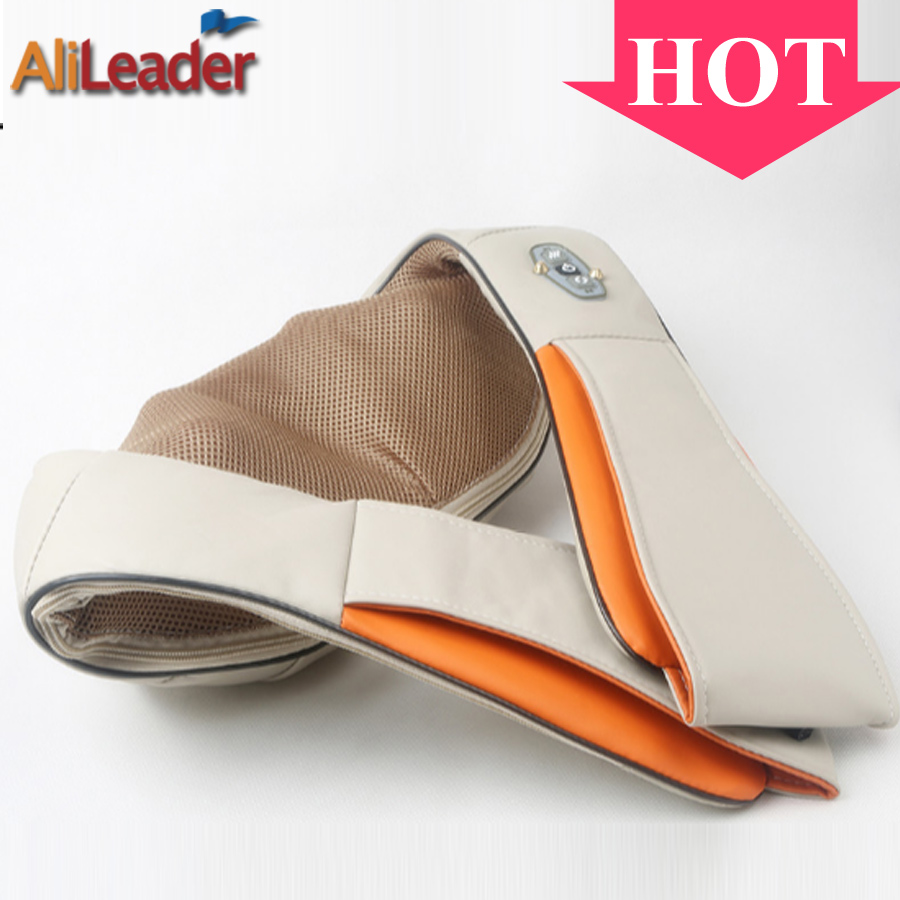 Hot 4D Shiatsu Kneading Heating Massage Pillow Care Hone Dual-Use With 8 Massage Heads, Electric Neck Back Foot Body Massager health care electric foot massager human kneading 4d shiatsu heating massage pillow back waist shoulder neck body massage device
