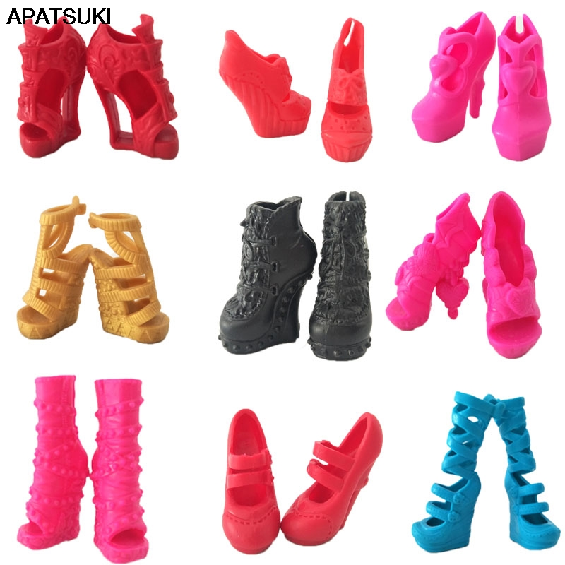 1pair Fashion Modern Design Shoes High Heel Shoes For Monster High Dolls Sandals For Ever After High 1/6 Monster Dolls Accessory