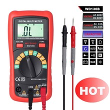 M082 WD136B Digital Multimeter DMM AC DC V A R C F + 2000uF Capacitance Frequency Auto Range MultiMeter Meter(China)