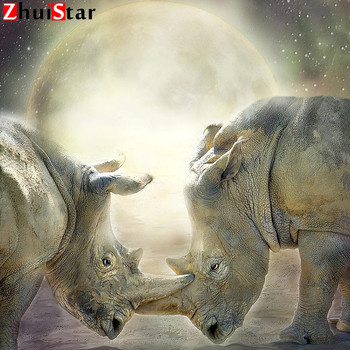 Diamond painting full square 5d diamond painting accessories rhino-love-caro mosaic Diamond embroidery sale stitch full displWHH image