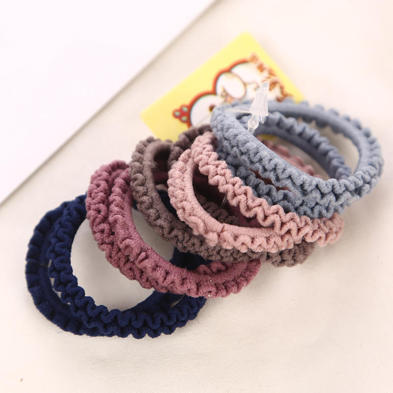 10PCS/Lot 3CM Girls Fashion Color Elastic Hair Band Lovely Kids Children Hair Ropes Hair Accessories Mix Rubber Bands Headwear