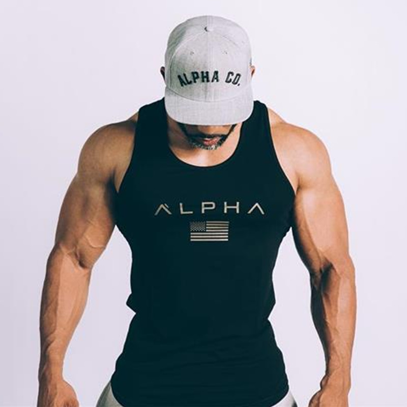 Mens summer new Bodybuilding   Tank     Tops   gyms Fitness cotton vest male Sleeveless Sling shirt undershirt sporting Brand clothing
