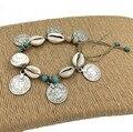 2016 nueva joyería de moda para mujer hechos a mano descalzo pie del tobillo de la joyería pulsera de plata antiguo de la moneda ardillas para el tobillo del verano estilo