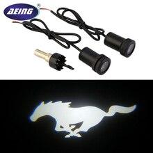 AEING 2 шт. белый Mustang Pony светодиодный лампы вежливость призрак тени огни дверные Прожекторы для Ford Mustang