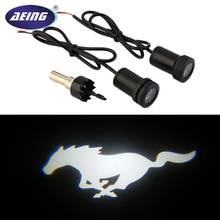 цена 2pcs White Mustang Pony LED Courtesy Lamps Ghost Shadow Lights Door Projectors For Ford Mustang онлайн в 2017 году