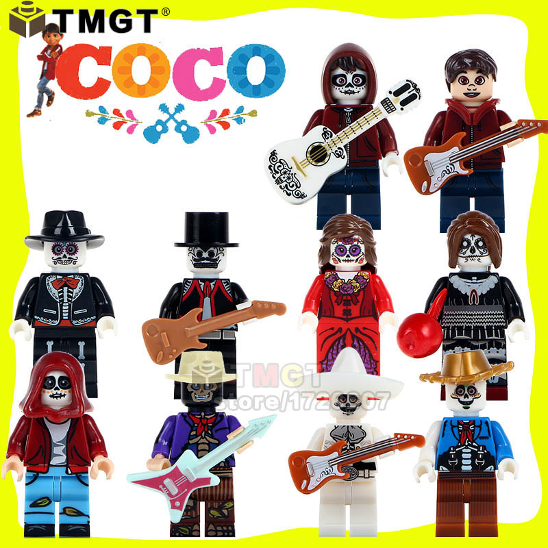 Blocks Model Building Conscientious Tmgt Single Sale Skeleton Skull Horror Coco Day Of The Dead Holiday Figures Legoings Miguel Building Blocks Toys For Children Fashionable And Attractive Packages
