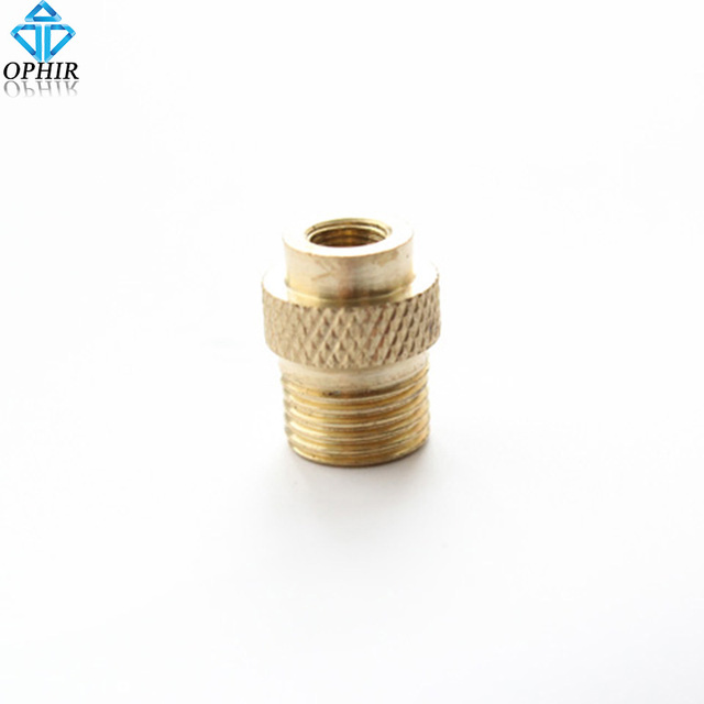 """OPHIR Badger Air Brush Compressor Adapter M5-0.5 female -1/8""""BSP male Airbrush Accesories Connectors _AC027"""