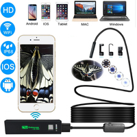 Wireless Wifi Endoscope Camera HD 1200P Waterprof Semi Rigid Tube Endoscope Borescope Video Snake Inspection For