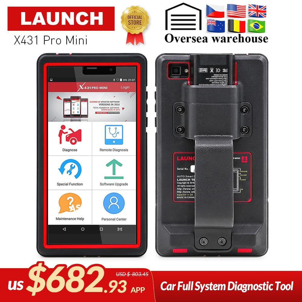 LANCEMENT X431 Pro Mini Auto outil de diagnostic Soutien WiFi/Bluetooth complète du système X-431 Pro Pros Mini scanner de voiture 2 ans mise à jour gratuite