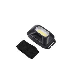 Image 3 - コバ cob ヘッドランプポータブルミニヘッドライト 5 色 3 モード使用 3 * AAA バッテリー防水超高輝度ライトキャンプランニング