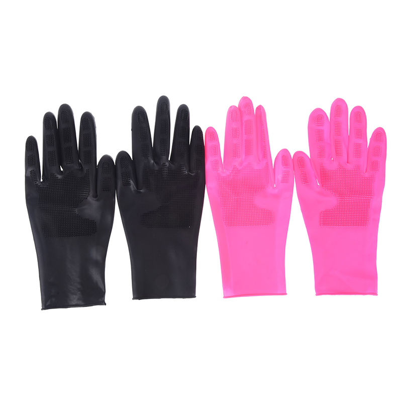 Black Rose 2pcs/lot Washing Hair Gloves Antiskid Gloves Protection Salon Hairdressing Perm Shampoo Dye Coloring Styling Tool