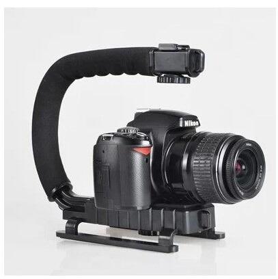 New U Shape Flash Camera Bracket Stand Grip Holder Black For DV Camcorder high quality