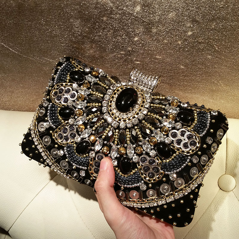 Women Bags Beaded Rhinestone Evening Clutch Bags In Europe And America Socialite Party Dress Cheongsam Ladies Hand Bags democracy in america nce
