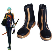 Touken Ranbu Costume The Sword Dance Ichigo Hitofuri Shoes Halloween Samurai Cosplay Hero Boots Shoes цена 2017