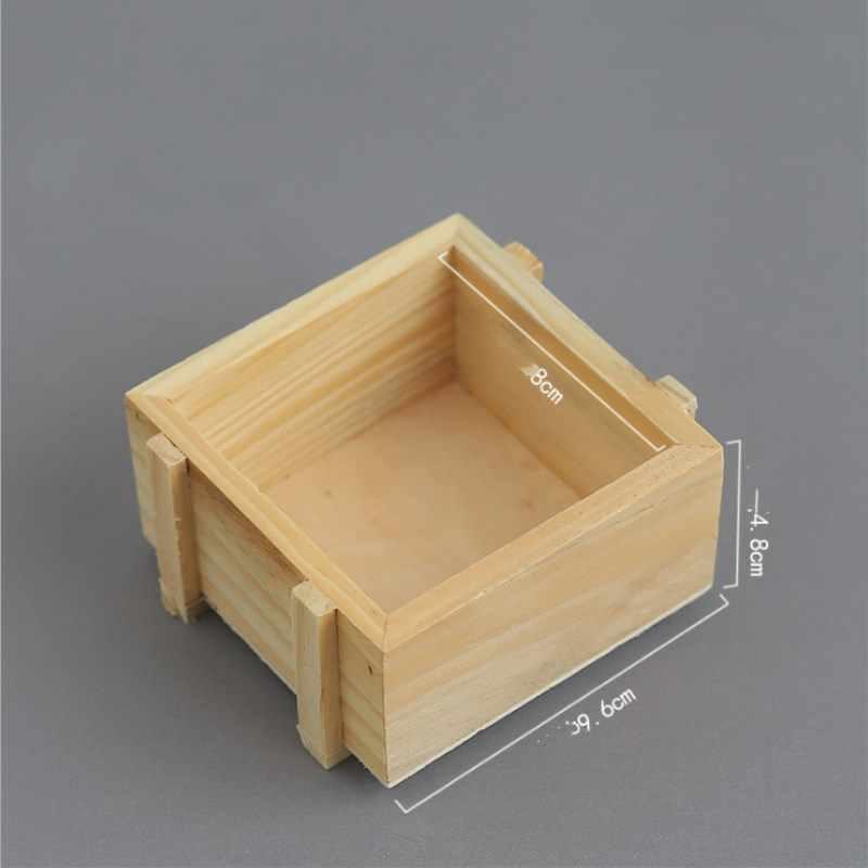 Handmade เครื่องประดับธรรมชาติสี Handmade สบู่บรรจุภัณฑ์ไม้กล่องไม้ธรรมดา Candy แหวน Organizer หัตถกรรมกรณี