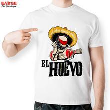 Casual White Printed T shirt Men Funny Short Sleeve O neck Tshirt New Fashion Summer Style