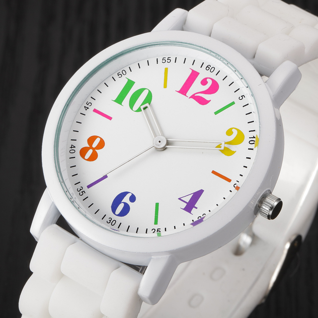 Mens Hot Sale 7 Color Silicone Rubber Jelly Gel Band Quartz Analog Fashion Sport