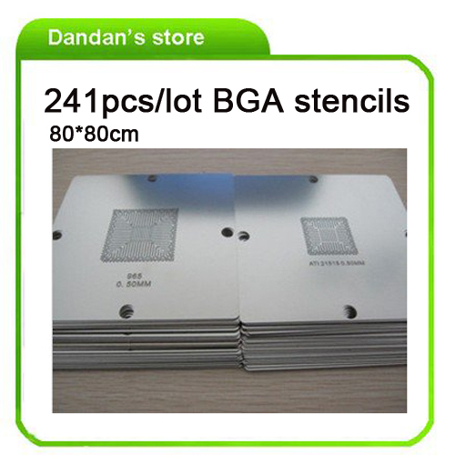 Hot-selling BGA 241 pcs/lot 80x80cm BGA reballing stencils templates Notebook and desktop new bga 241 pcs 90 90 bga stencils templates notebook and desktop substitute 230 pcs bga reballing stencil 90x90