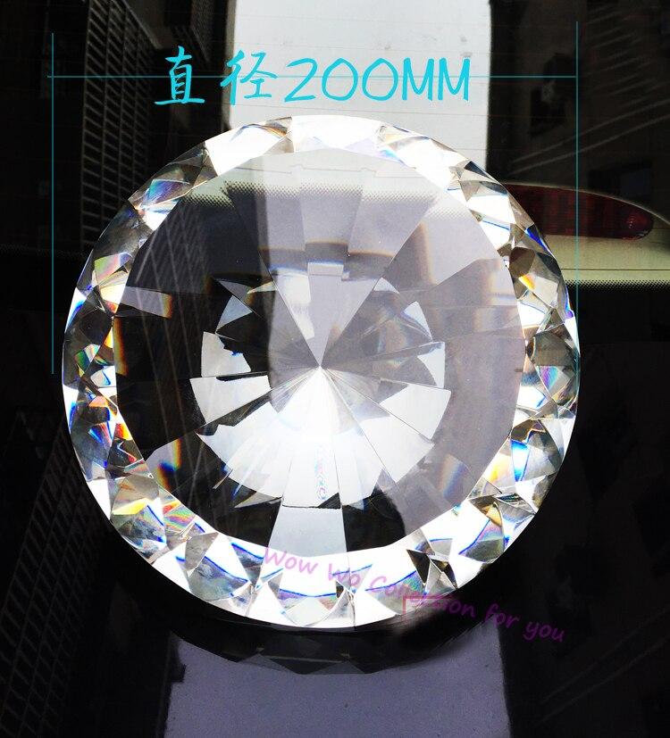 Бесплатная доставка 1 шт. высокого качества огранки огромный размер 200 мм кристалл алмаза пресс папье для гостиной фэншуй украшения