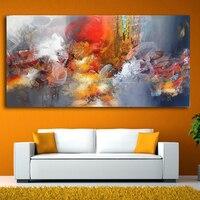 2017 venta caliente de gran tamaño Iarts Moderna Decoración Arte de la Pintura Abstracta de Colores Sin Camilla y No Frame envío gratuito
