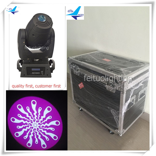 (4pcs+CASE)Stage lighting equipment moving head lights china lyre spot 120w spot led moving head light flight case