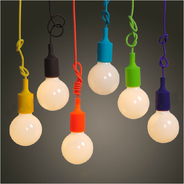 Colorful Pendant Lamp Modern Vintage Edison Bulb Bar