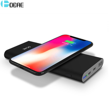 DCAE QI Wireless Charger Power Bank for iphone X 8 Plus Samsung Galaxy S9 S8 S7 10000mAh Portable Powerbank Mobile Phone Charger