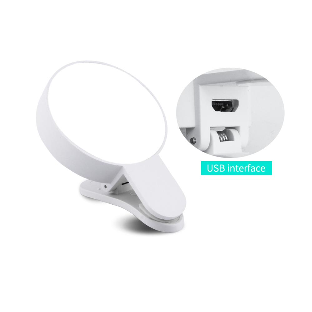 Image 4 - Mobile Phone LED Selfie Ring Light  Portable Circle Photography Clip Light Beauty Fill Lamp for Cell Phone Camera Rechargeable-in Novelty Lighting from Lights & Lighting