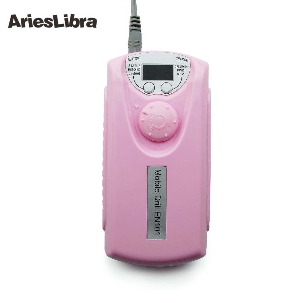 AriesLibra Portable Pink Drill Machine 30000RPM Electric Nail Drill Manicure Pedicure Machine Milling Cutters Nail Art Equipment цена