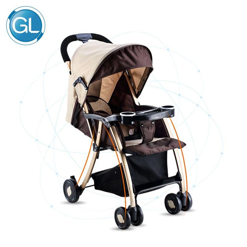 GL Детские Коляски складной зонт сидеть и лежать Портативный прочного сплава Сталь Материал складной Детские коляски для детей от 0 до 5 лет К...