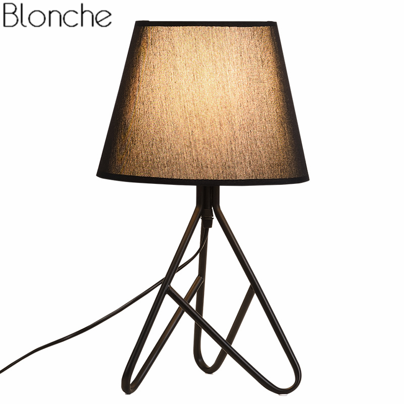 Modern Led Table Lamp Nordic Fabric Desk Lights for Living Room Bedroom Bedside Stand Lamp Study Light Fixtures Home Decor E27 modern led metal lamp crystal shade bedroom bedside table lamp for the living room study home lighting fixtures with marble base