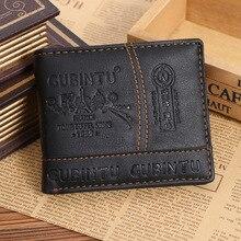 Men Wallet Letters Credit Card Holder Partten PU Leather Sho