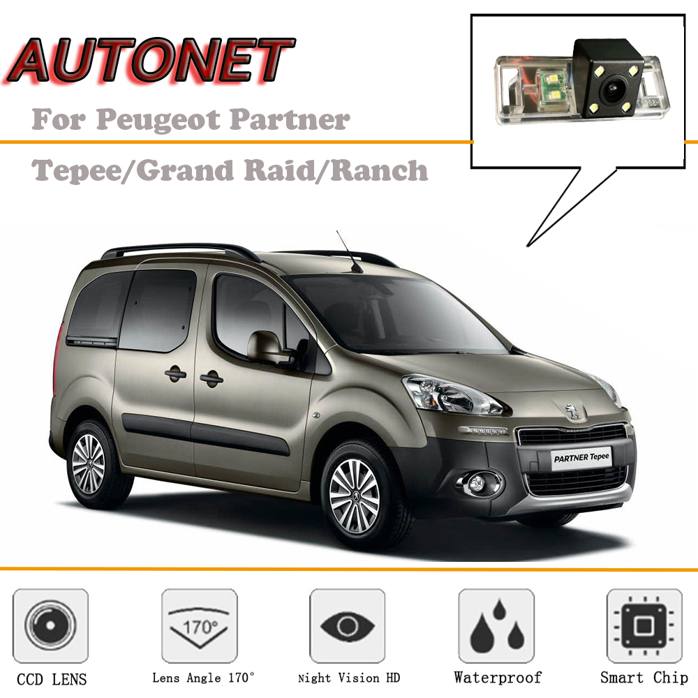Autonet Rear View Camera For Peugeot Partner Tepee Grand Raid Ranch Wiring Diagram Reverse Backup License Plate In Vehicle From Automobiles